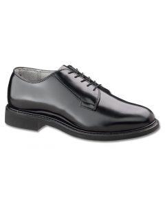 Men's Black Leather Low Quarter Shoe (932)