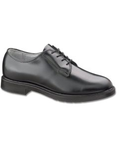 Women's Black Leather Low Quarter Shoe (752)
