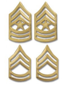 Army Enlisted Non-Tarnish Rank Insignia