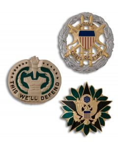 Army Non-Tarnish Identification Badges
