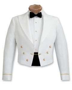 Male Enlisted Army White Mess Jacket