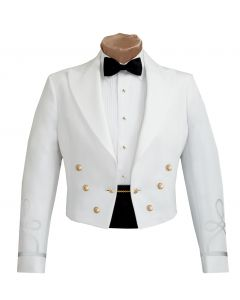 Male Officer Army White Mess Jacket