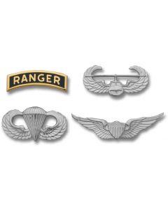 Army Non-Tarnish Miniature Skill and Combat Badges