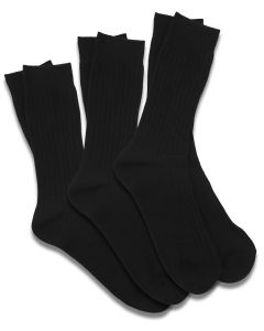 Package of 3-Pair Black Dress Socks