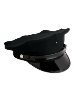Clearance - Eight Point Police Cap, Black
