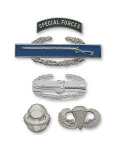 Army Non-Tarnish Full-Size Skill and Combat Badges