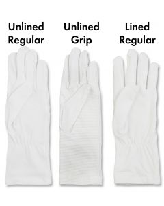 Gauntlet-Length White Gloves