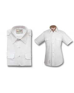 Male Army ASU White Short Sleeve Shirt