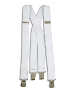 White Clip-on Suspenders