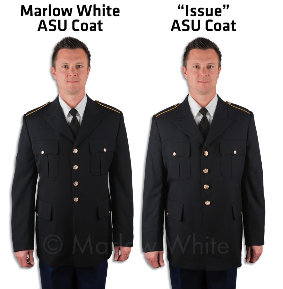 Marlow White ASU Coat Comparison Photo