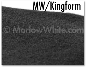 Photo of: Marlow White/Kingform pre-shaven beret's wool