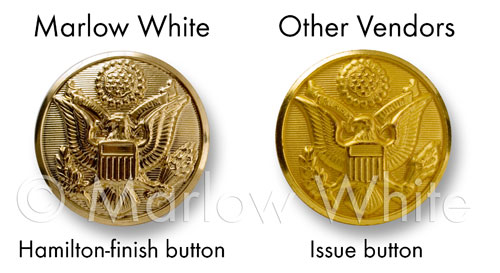 Comparison of Marlow White button vs. other button.