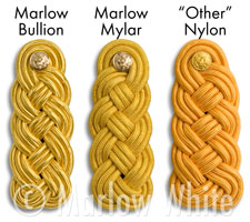 Bullion and nylon shoulder knots
