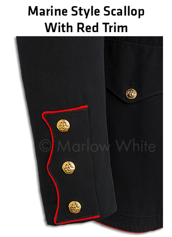 Marine style cuff with red trim