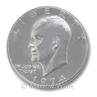 Photo of an Eisenhower Silver Dollar